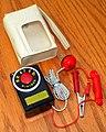 Vintage Miniman Phone Germanium Pocket Crytal Radio With Carrying Case, Model M-703, AM Band, Made In Japan, Circa 1958 (48631471952).jpg