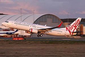 Virgin Australia Boeing 737-800 at Canberra Ai...