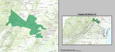 Virginia's 10th congressional district - since January 3, 2013.