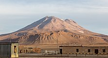 Vista del volcán de Ollagüe desde Ollagüe, Chile, 2016-02-09, DD 79.JPG