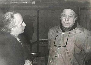 Pietro Annigoni - Vittorio Miele (left) and Pietro Annigoni (right), in Monte Cassino