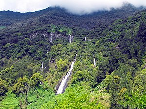 Réunion National Park - Bridal Veil Falls, Salazie