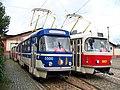 Vozovna Střešovice, tramvaje 5500 a 6921.jpg