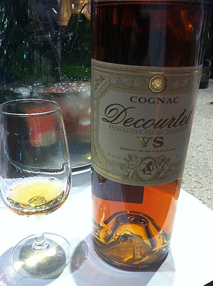 Cognac - VS (Very Special) cognac is aged for at least two years in cask