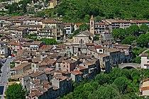 Vue du village de L'Escarène depuis le quartier du Brec.JPG