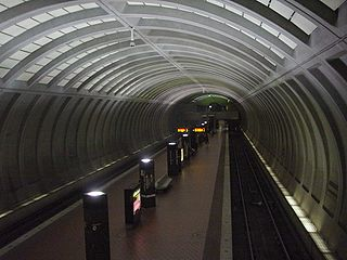 WMATA Friendship Heights station from Jenifer Street mezzanine.jpg