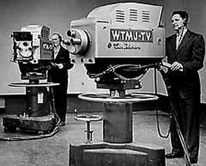 WTMJ-TV - WTMJ's RCA TK-40 cameras in service during the 1950s-1960s timeframe. It was one of the first stations in the U.S. to produce local color programming.