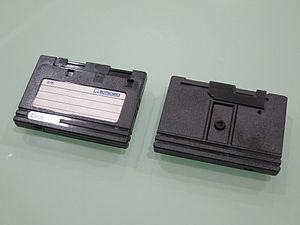 Rotronics Wafadrive - Front and back of a Rotronics 64 kB Wafa tape