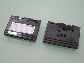 Rotronics Wafadrive - Front and back of a Rotronics 64 kB Wafa tape