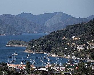 Waikawa, Marlborough - Waikawa Bay and marina