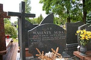 Attack on the NKVD Camp in Rembertów - Walenty Suda's grave in Piaseczno
