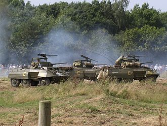 War and Peace Revival - Vehicles in action at War and Peace 2004