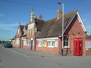 Wareham railway station - Main building at Wareham station, on the westbound platform.