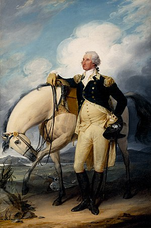 1782 in the United States - September 14: Washington at Verplanck's Point, by John Trumbull, 1790