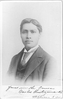 Carlos Montezuma Yavapai-Apache activist and a founding member of the Society of American Indians