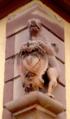 Wasselonne Enseigne de tanneur 1730.png