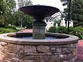 Water fountain in the Genevieve Green Gardens at the Ewing Cultural Center.jpg