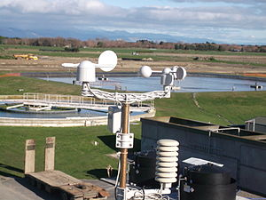 Wind speed - An anemometer is commonly used to measure wind speed.