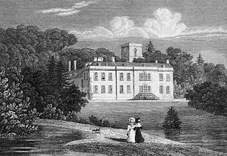 Welton, Northamptonshire - An 18th century etching of Welton Place
