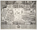 Wenceslas Hollar - Map of England and view of Prague with scenes of the beginning of the Civil War.jpg