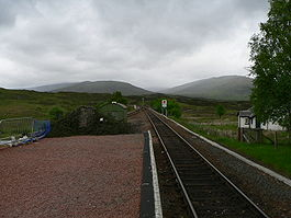 The West Highland Line at Rannoch station