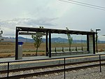West at a South Jordan Parkway station passenger shelter, Apr 16.jpg