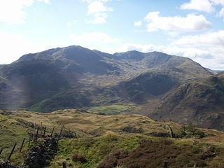 Wetherlam mountain in United Kingdom