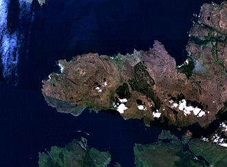 Ardnamurchan - Satellite photo of Ardnamurchan
