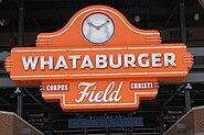 Whataburger Field Sign Corpus Christi Texas