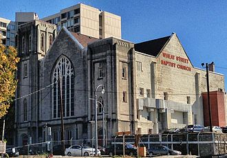 Wheat Street Baptist Church - Wheat Street Baptist Church seen from the north (back side)
