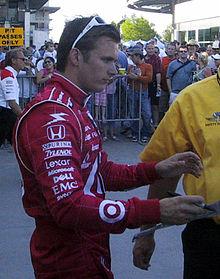 Dan Wheldon, pilota ufficiale del team Ganassi nel campionato IRL