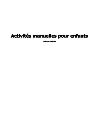 File:Wikibooks Activités pour enfants.pdf