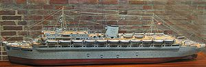 MV Wilhelm Gustloff - A model of Wilhelm Gustloff at the Laboe Naval Memorial