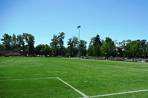 Soccer field at Willamette University in Salem...