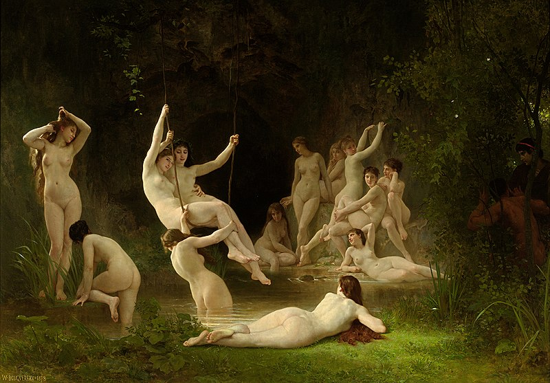Файл:William-Adolphe Bouguereau (1825-1905) - The Nymphaeum (1878).jpg