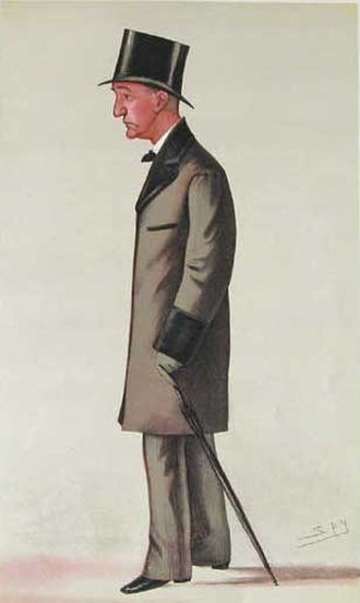 William Edward Baxter - Baxter caricatured by Spy in Vanity Fair, 1885