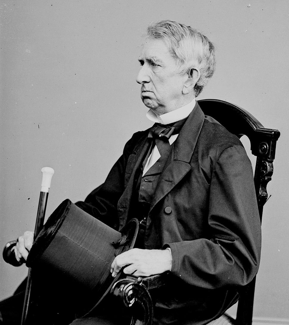 William Seward, Secretary of State, bw photo portrait circa 1860-1865