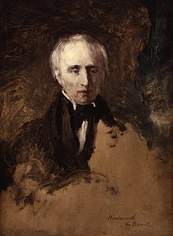 O poeta britanico William Wordsworth, en un quadro de William Boxall.