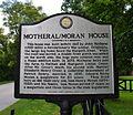 Williamson County Historical Marker for John Motheral House.JPG