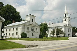 Historical society and church in Williamstown