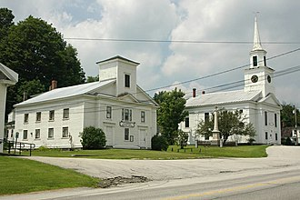 Williamstown, Vermont - Historical society and church in Williamstown