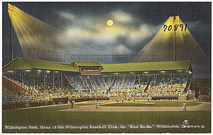 Wilmington Park - Image: Wilmington Park, home of the Wilmington Baseball Club, the Blue Rocks, Wilmington, Delaware