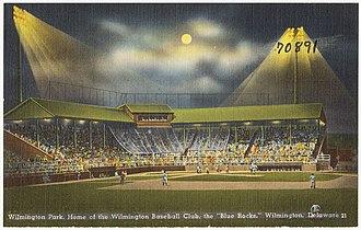 Wilmington Park - Image: Wilmington Park, home of the Wilmington Baseball Club, the Blue Rocks, Wilmington, Delaware