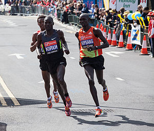2012 London Marathon - Image: Wilson Kipsang 2012 London Marathon
