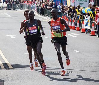 2012 London Marathon - Image: Wilson Kipsang 2012 London Marathon