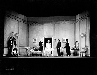 Aline Bernstein - One of Bernstein's set designs for the original Broadway production of Grand Hotel (1930)