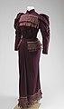 Woman's Deep Purple Worsted Wool Dress.jpg