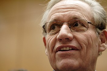 English: Bob Woodward at the meeting with Inte...