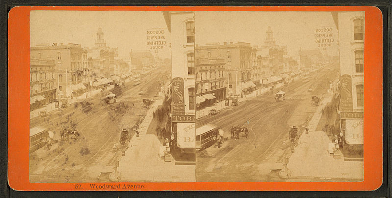 File:Woodward Avenue, Detroit, Michigan, from Robert N. Dennis collection of stereoscopic views.jpg