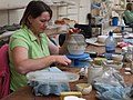 Working carefully, Belleek Pottery - geograph.org.uk - 885739.jpg